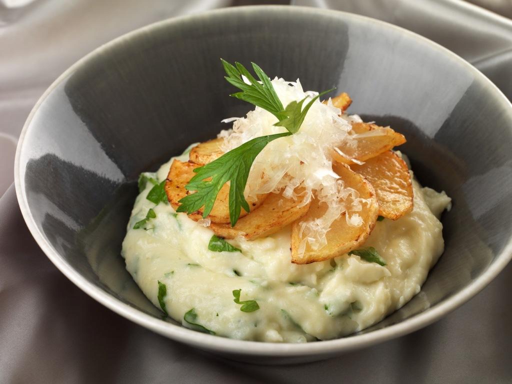 Pommes de terre d'Eysines et tomme des Pyrénées comme un Aligot