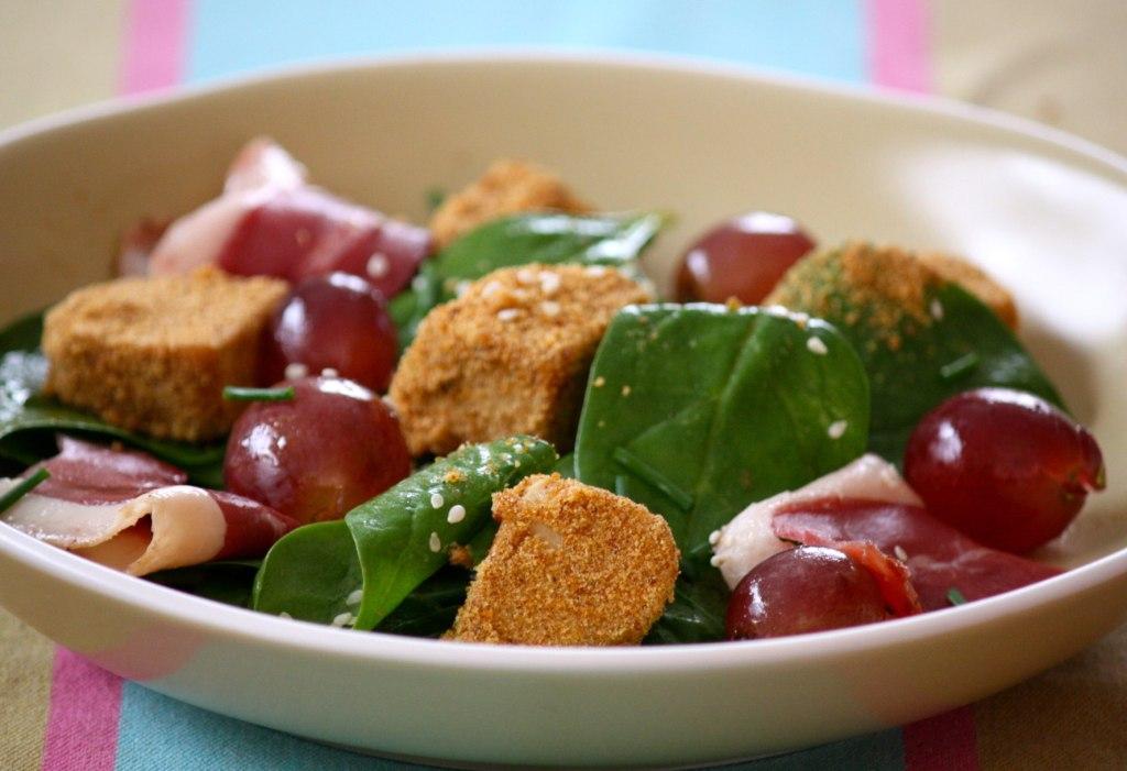 Salade de dés de Foie Gras du Sud Ouest au pain d'épices