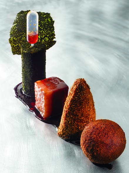 Canard à architecture variable jus de canard et pomme de terre persillade