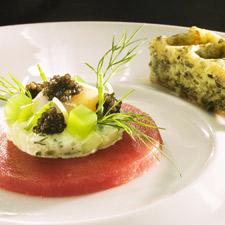 Carpaccio de thon et caviar d'Aquitaine