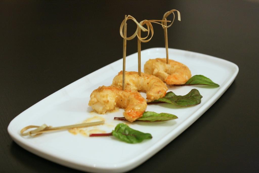 Crevettes flambées à l'Armagnac