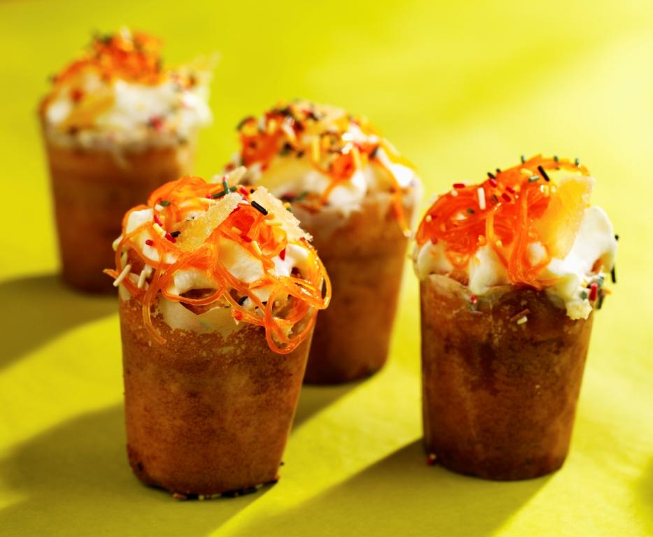 Cup cake aux carottes des sables des Landes et au gingembre