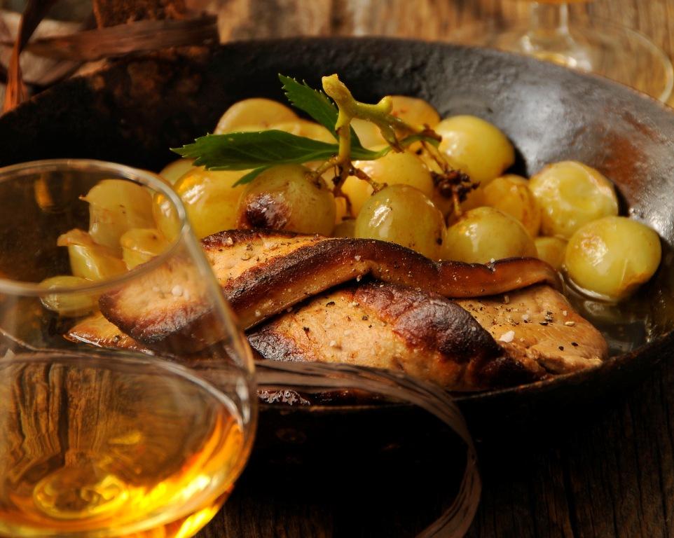Foie Gras de canard du Sud Ouest aux raisins et à l'Armagnac