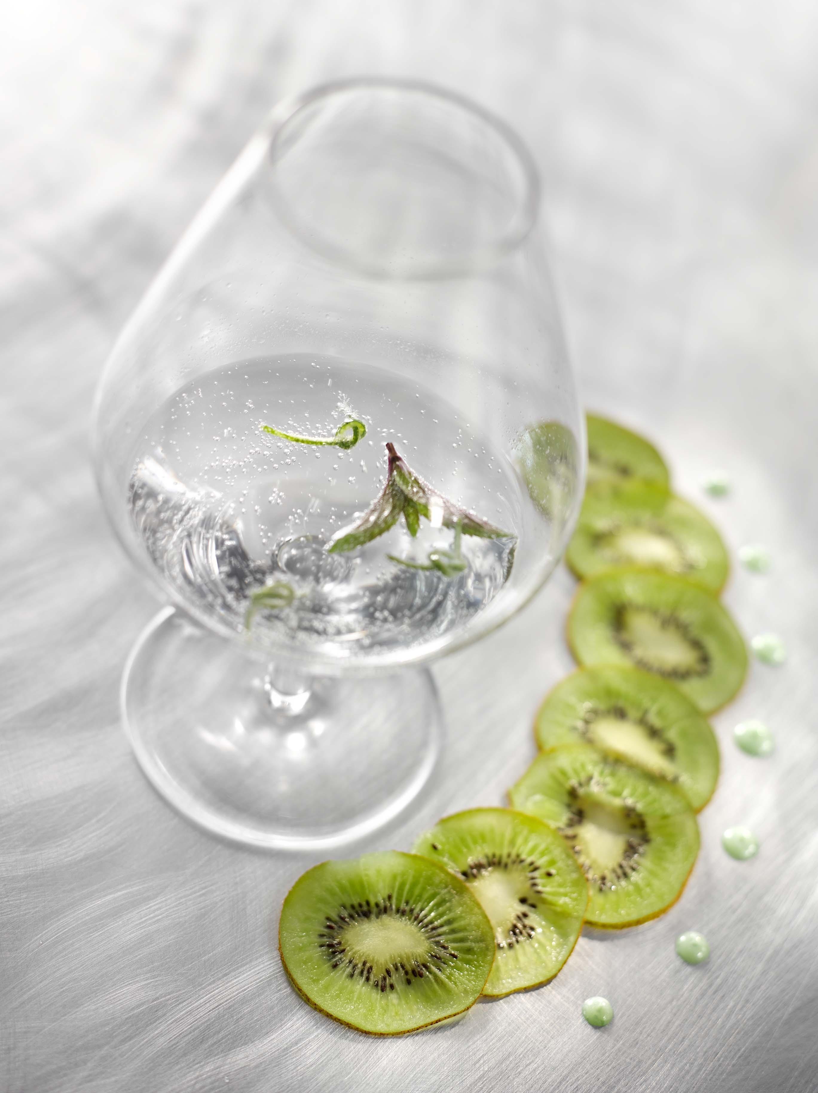 Kiwi de l'Adour en gin tonic avec menthe