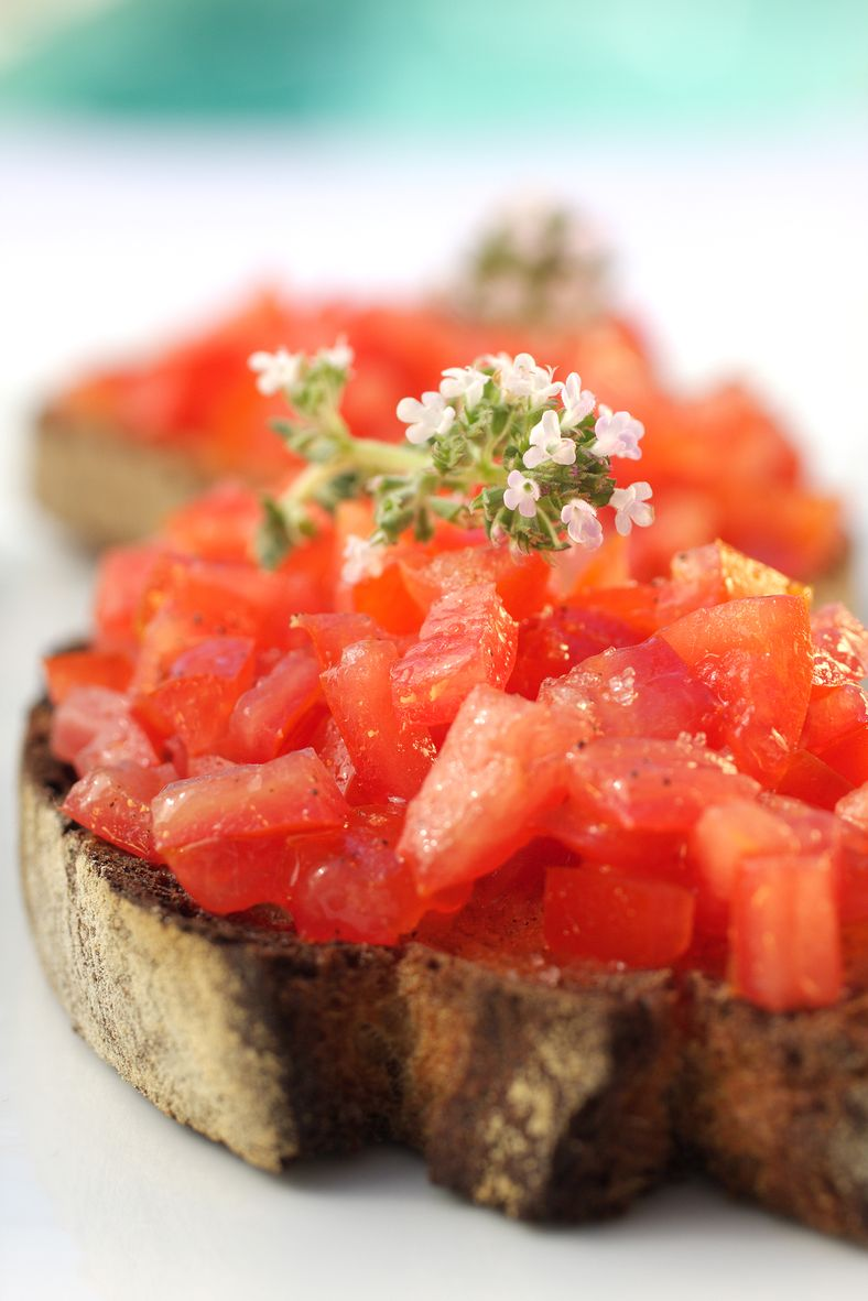 Bruschetta de tomates de Marmande