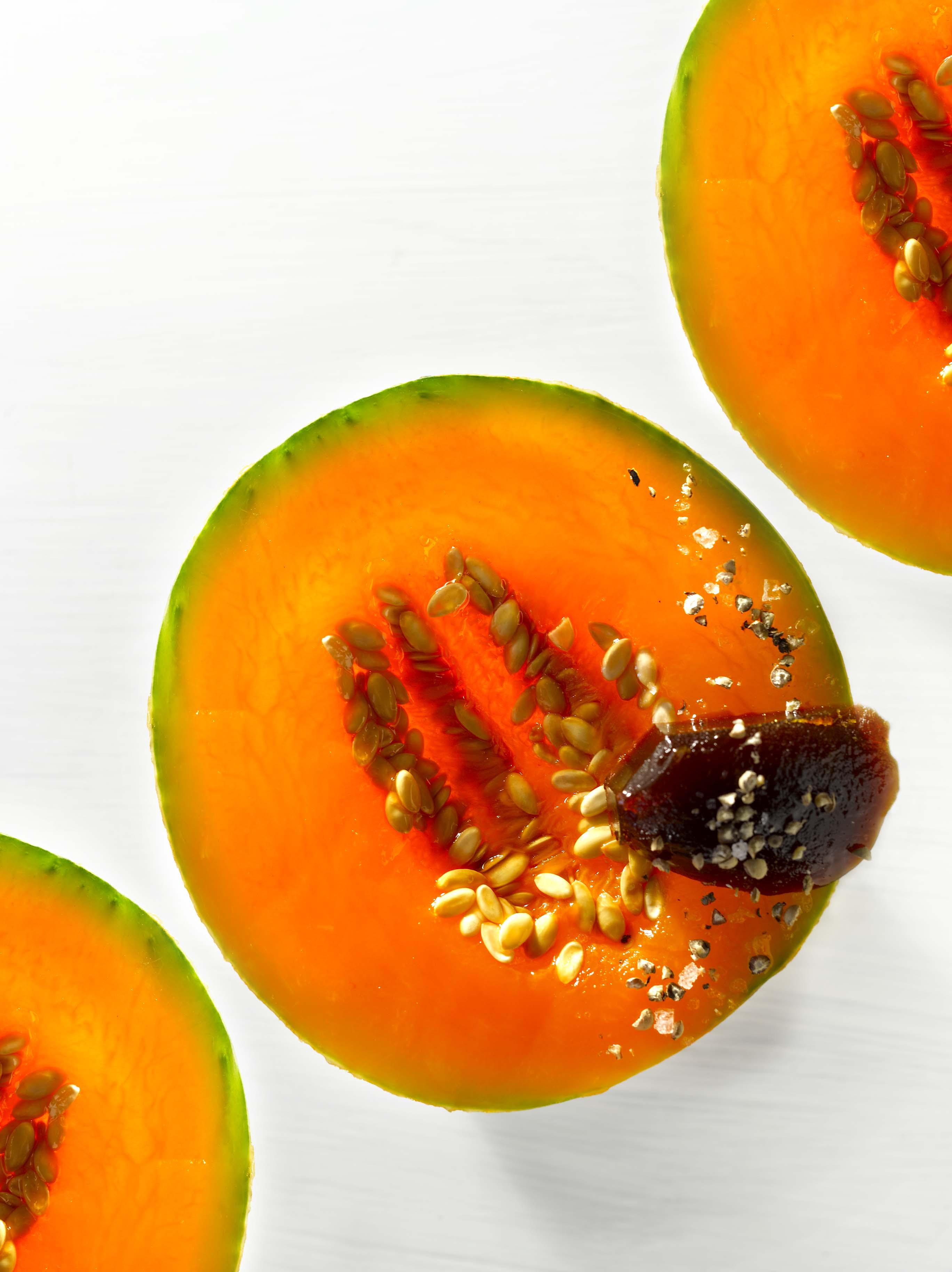 Melon du Quercy en compression, jus de canard réduit et corsé