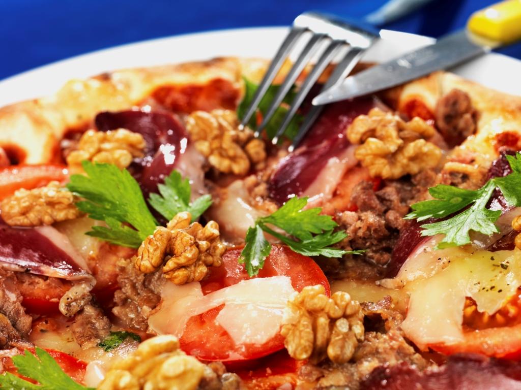 Pizza aux Noix du Périgord