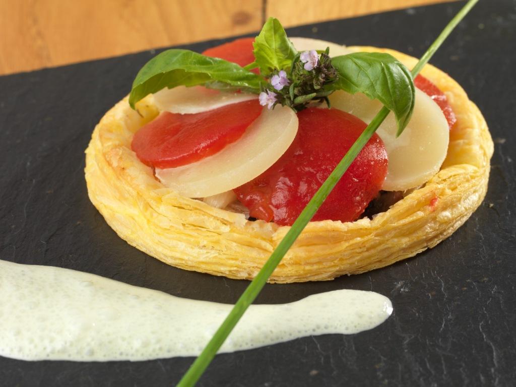 Régaline d'Ossau-Iraty à la tomate confiteRégaline d'Ossau-Iraty à la tomate confite