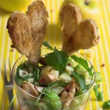 Salade poulette, Pommes du Limousin