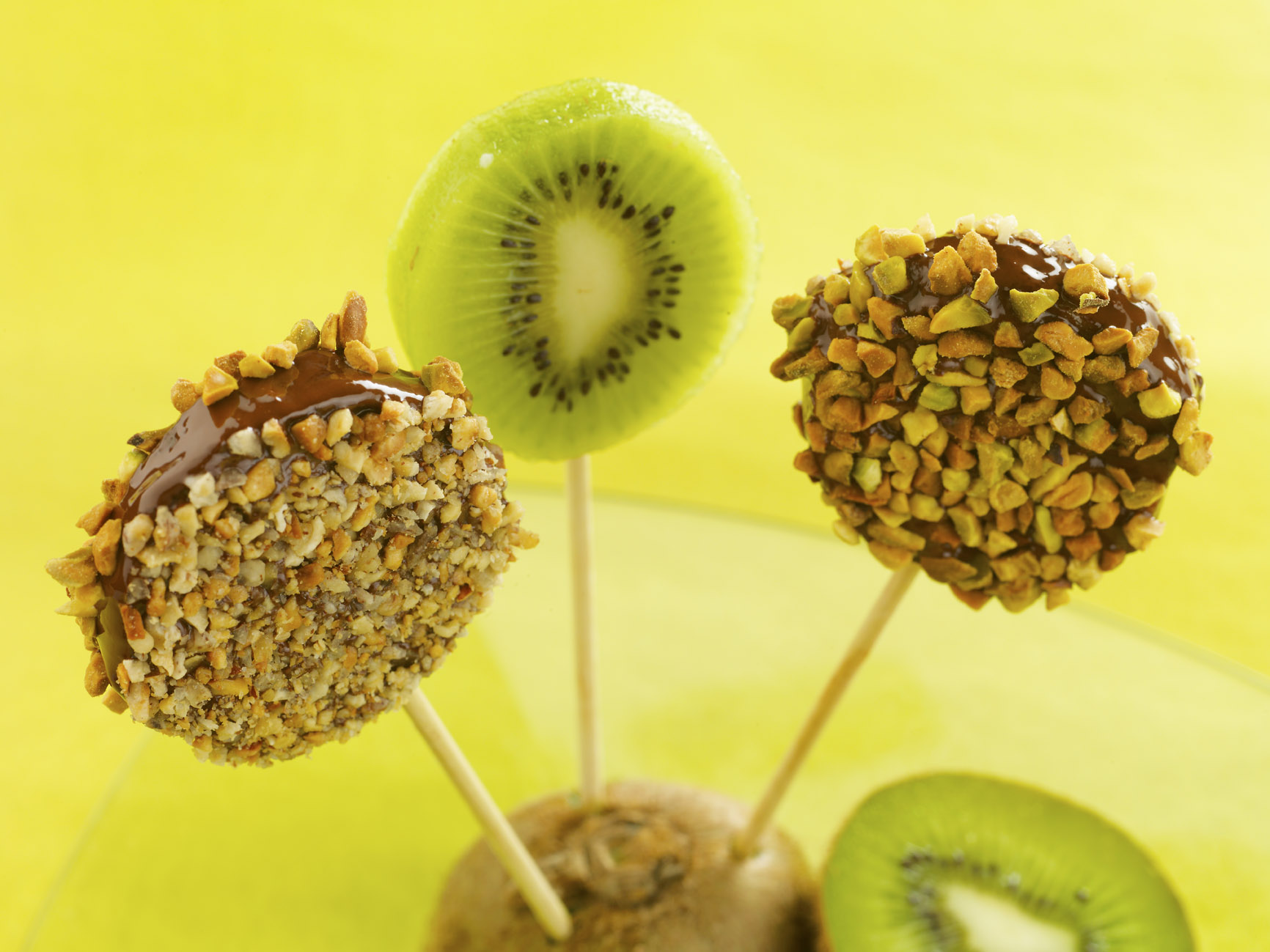 Sucettes de Patoche au kiwi de l'Adour chocolat