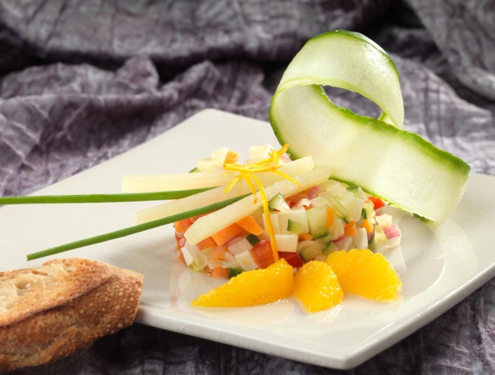 Tartare de jeunes légumes à l'Ossau-Iraty