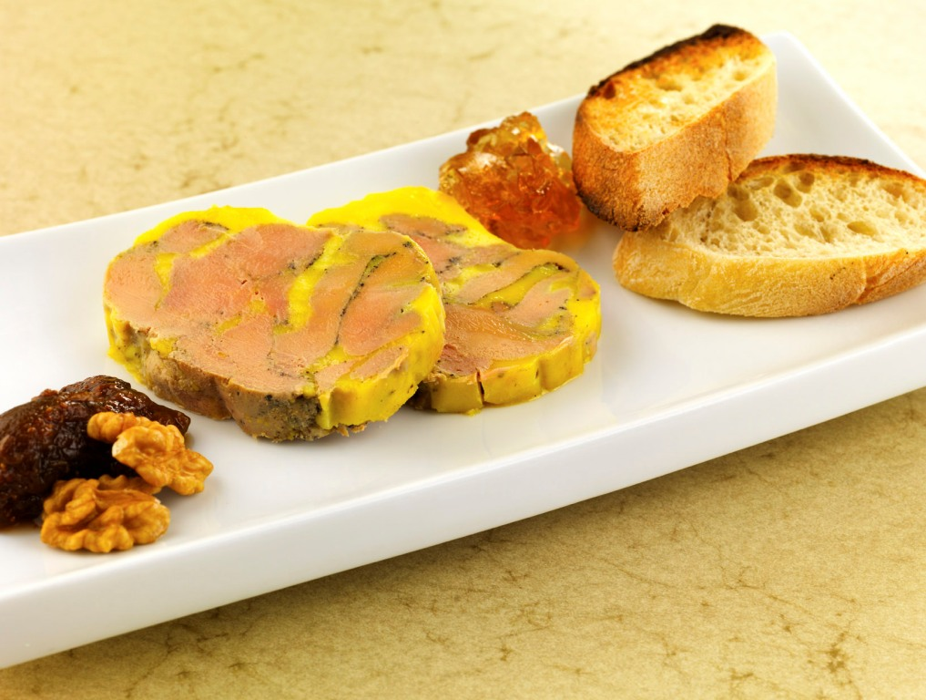Semi-Cooked Périgord Foie Gras Terrine, Marinated in Sauternes