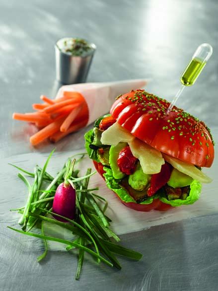Tomates de Marmande en Mac Coiffé végétal, «tout simplement»